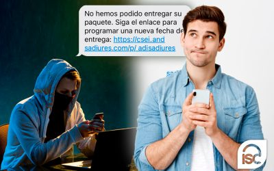 SMS fraudulentos: empresas de paquetería y bancos